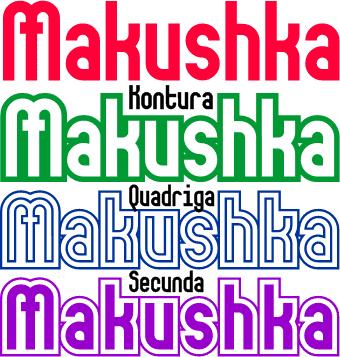 Makushka font by Peter Wiegel