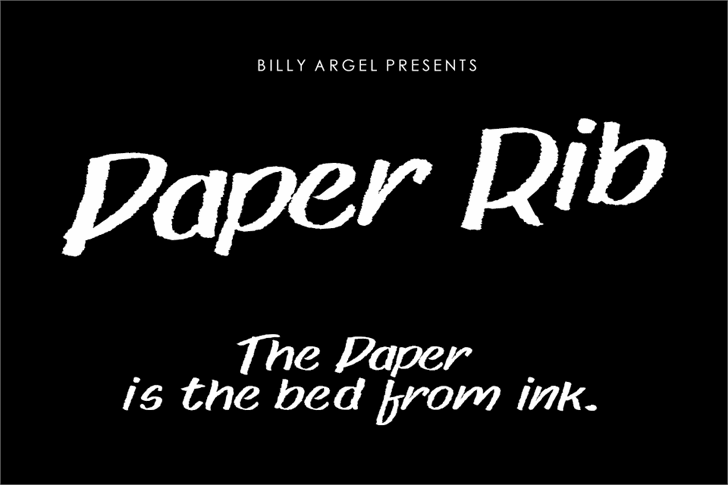 Paper rib font by Billy Argel