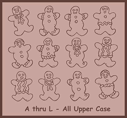 Destiny's Gingerbread Dings font by Destiny's Designs