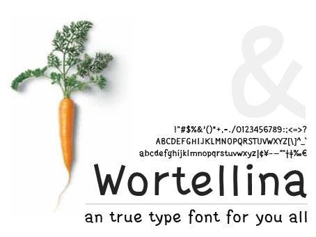 Wortellina font by Gunarta