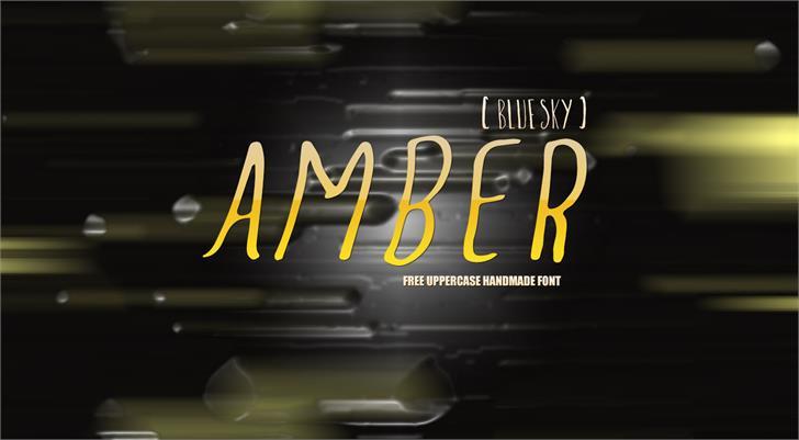 Amber  Blue Sky font by Symufa