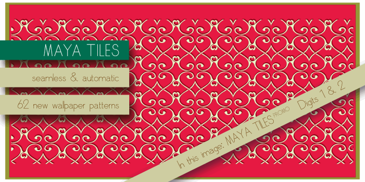 Maya Tiles PROMO font by AgaSilva