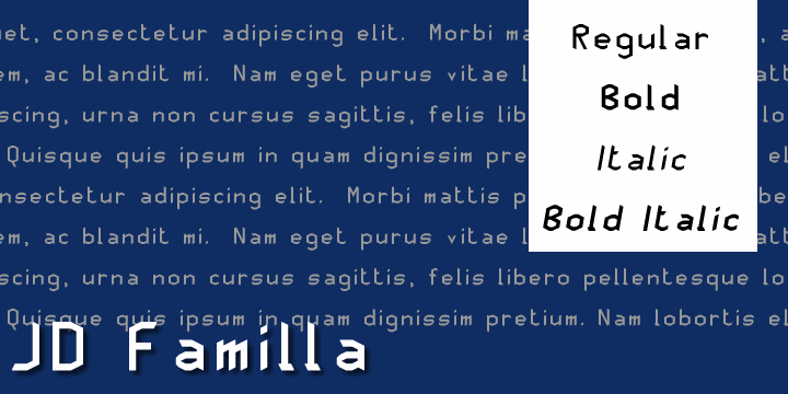 JD Familla font by Jecko Development
