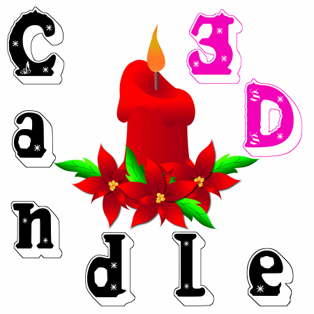Candle3d font by fontden