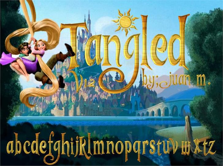 Tangled v1.2 font by Esteban4058