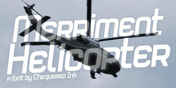 Merriment Helicopter font by Chequered Ink