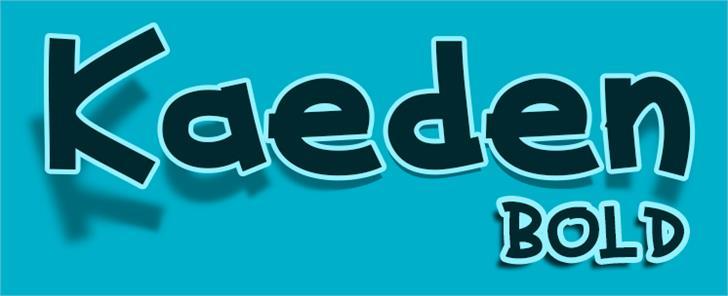Kaeden font by VVB DESIGNS