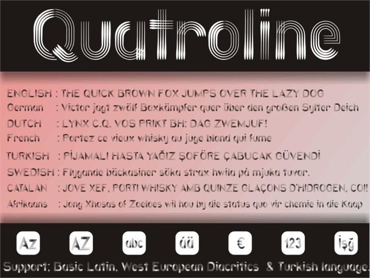 Quatroline font by studiotypo