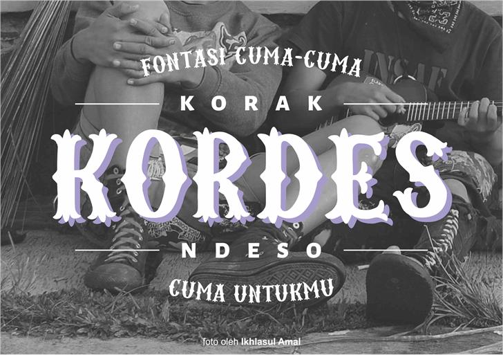 Kordes font by Gunarta
