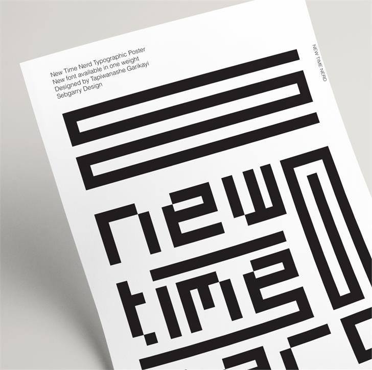 New Time Nerd font by sebgarrydesign
