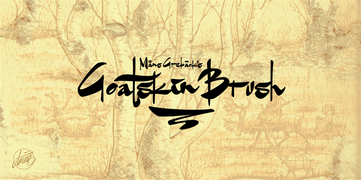 Goatskin Brush Personal Use font by Måns Grebäck