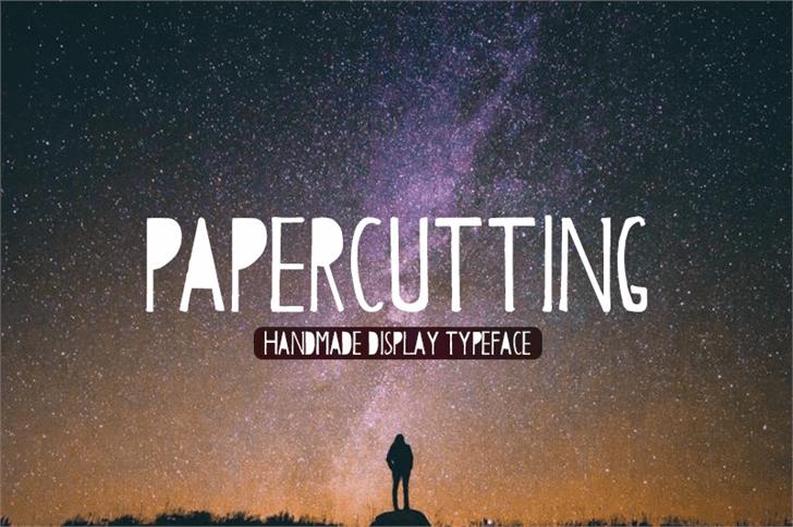 Papercutting font by Creativetacos
