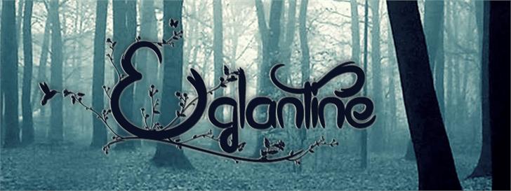 Eglantine font by Maellekeita