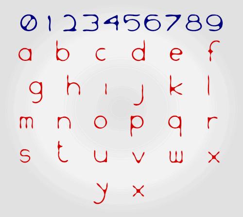WS Inkski font by onesel