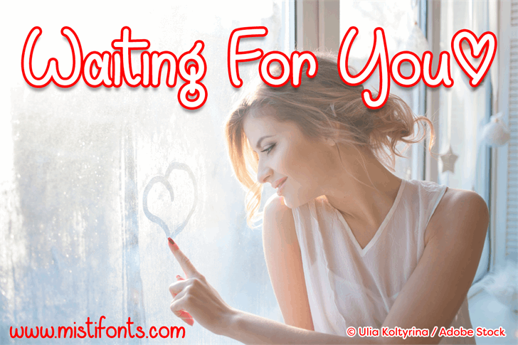 Waiting For You font by Misti's Fonts