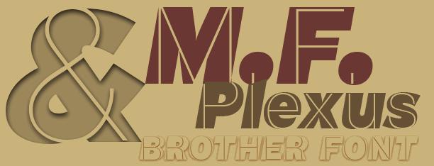 M.F. Plexus Italic font by deFharo