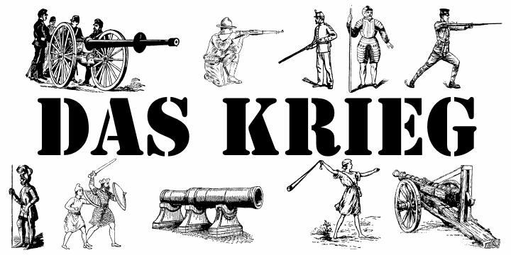 Das Krieg font by Intellecta Design