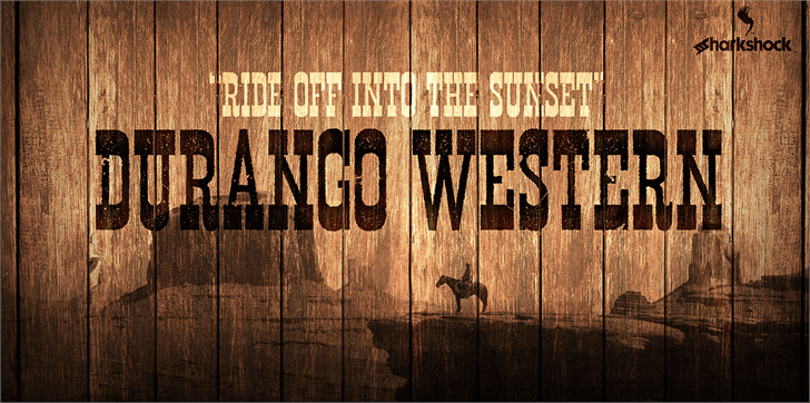 Durango Western Eroded font by sharkshock