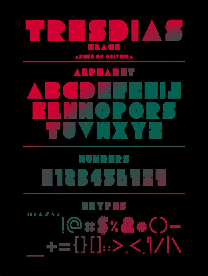 Tresdias Black font by Asclê de Oliveira