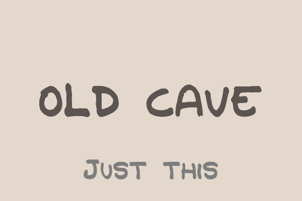 Old Cave font by Paulo R