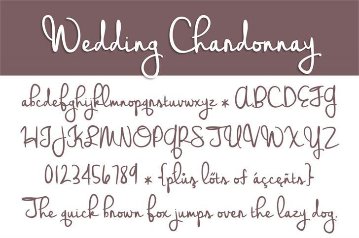 Wedding Chardonnay font by Brittney Murphy Design
