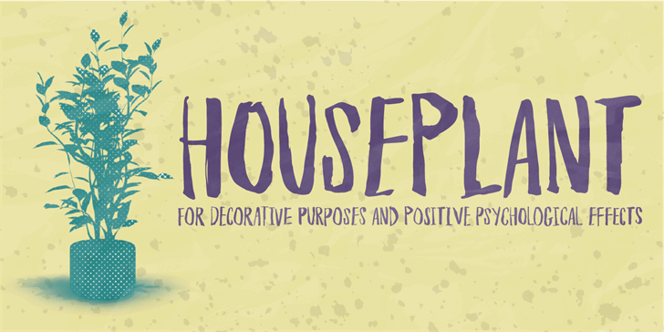 Houseplant DEMO font by pizzadude.dk
