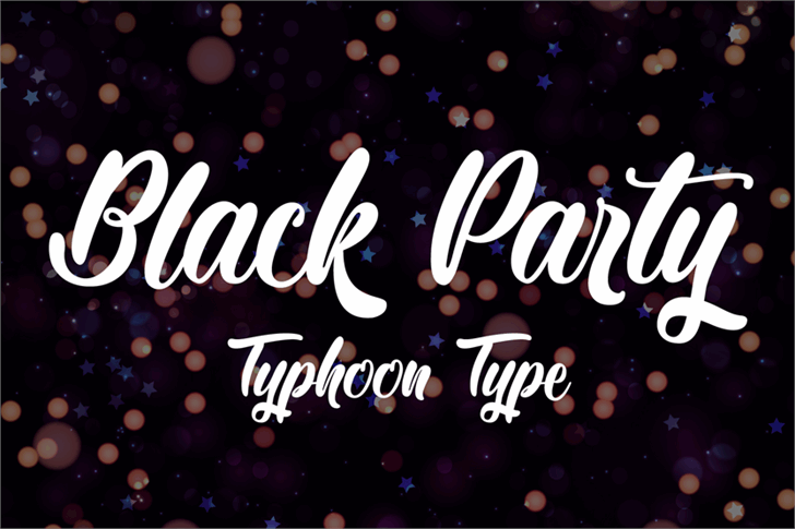 Black Party font by Typhoon Type - Suthi Srisopha