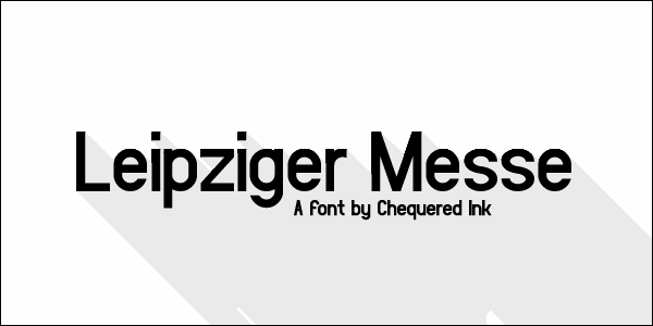 Leipziger Messe font by Chequered Ink