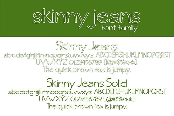 {skinny} jeans font by Brittney Murphy Design