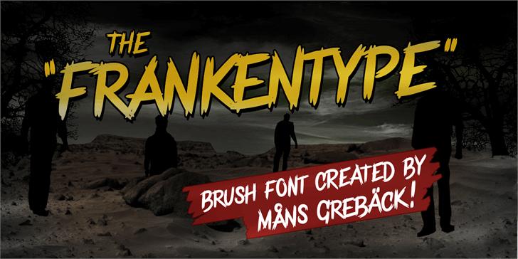 Frankentype Personal Use Only font by Måns Grebäck