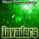 Invaders font by Pixel Sagas