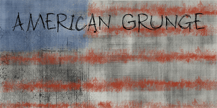 DK American Grunge font by David Kerkhoff