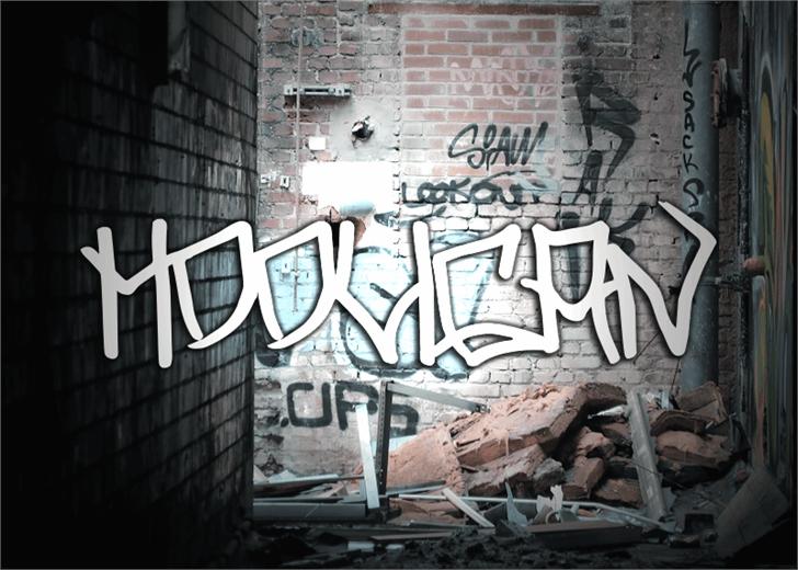 Hooligan font by Font Monger