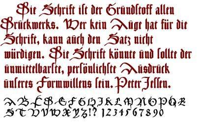 CancellerescA font by Manfred Klein
