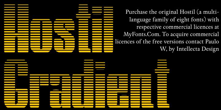 Hostil Gradient font by Intellecta Design