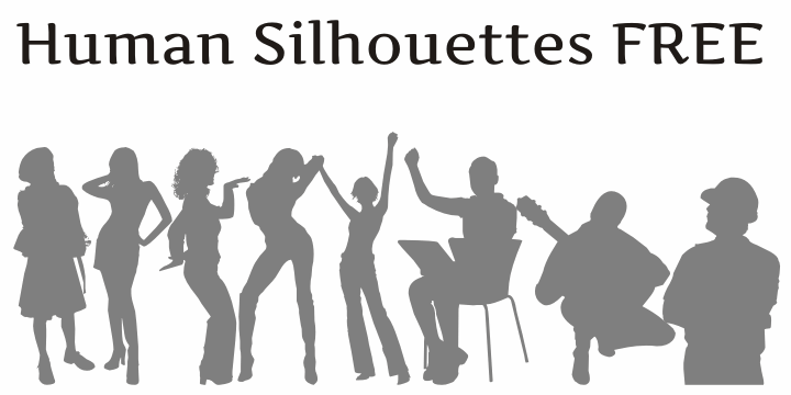 Human Silhouettes Free font by Intellecta Design