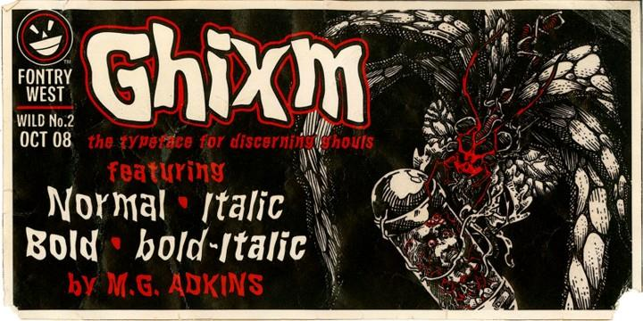 WILD2 Ghixm NC font by the Fontry