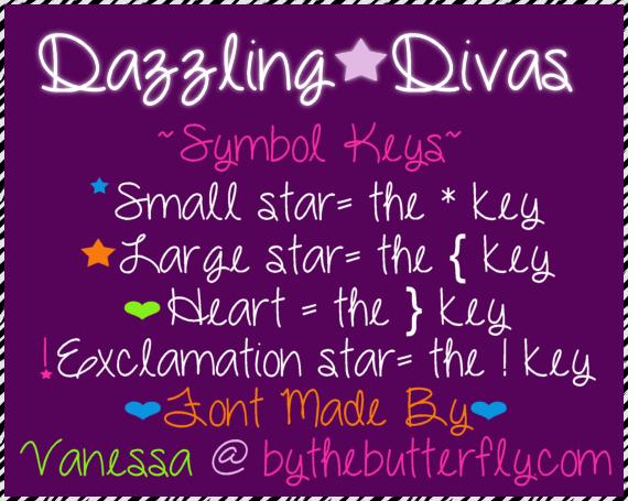 DazzlingDivas font by ByTheButterfly