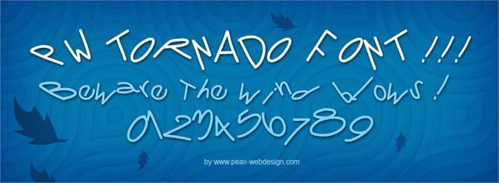 PWTornado font by Peax Webdesign