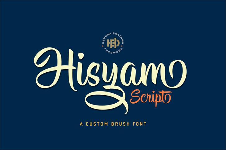 Hisyam Script Personal Use font by HPTypework