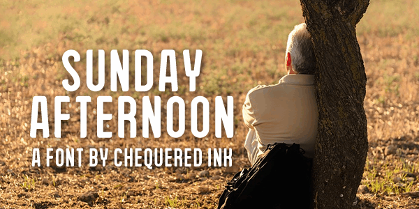 Sunday Afternoon font by Chequered Ink