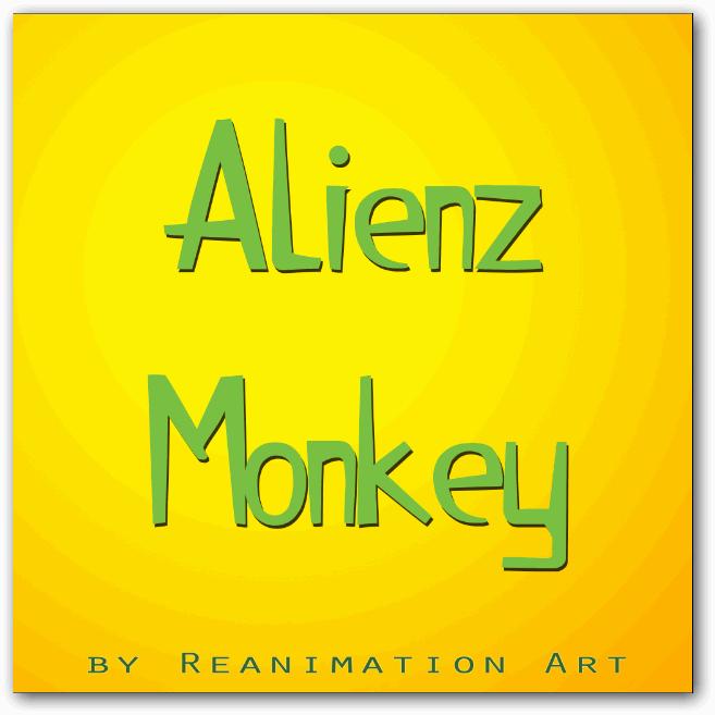 Alienz Monkey font by ReanimationArt