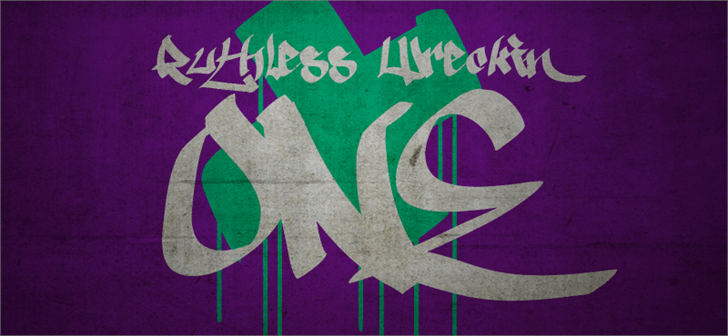 Ruthless Wreckin ONE font by Måns Grebäck