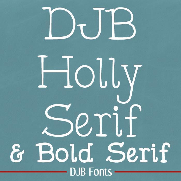 DJB Holly Serif font by Darcy Baldwin Fonts