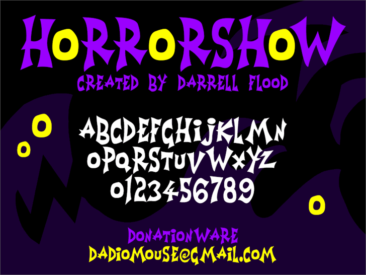 Horrorshow font by Darrell Flood