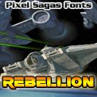 Rebellion font by Pixel Sagas