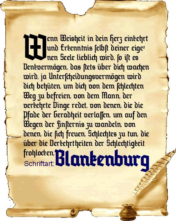Blankenburg font by Peter Wiegel