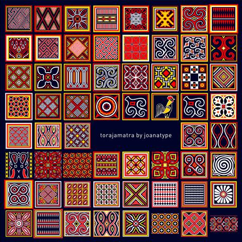 Torajamatra font by joanatype