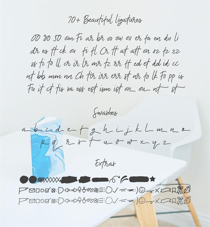 The Bouquet List font by Nasir Udin