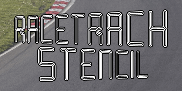 Racetrack Stencil font by Chequered Ink